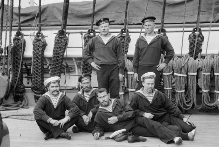 Моряки Рынды, 1893 год.