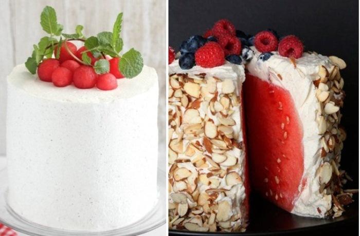 Торт из арбуза - легкое летнее лакомство.