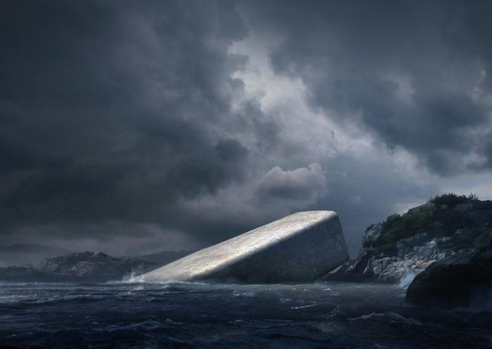 Уникальный ресторан на норвежском побережье.