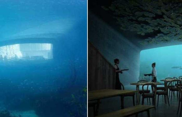 Подводный ресторан в Норвегии.