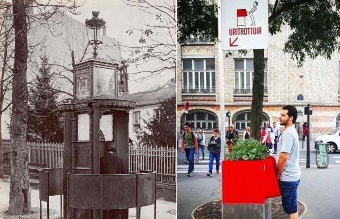 Писсуары в Париже: прошлое и современность.