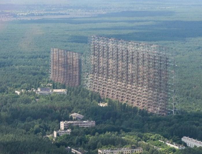Радиолокационная станция «Дуга» в Чернобыле.