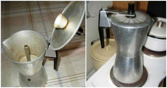 Советская гейзерная кофеварка.
