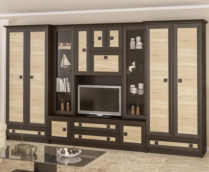 Мебельная стенка не должна занимать полкомнаты.