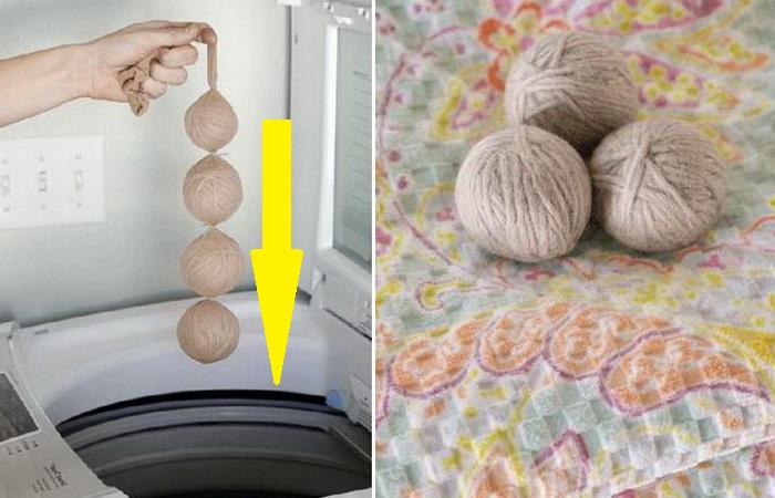 Мотки пряжи для сушки белья в машинке