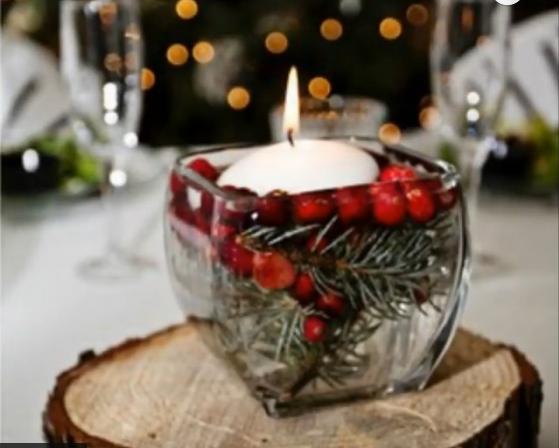 Новогодняя свеча.