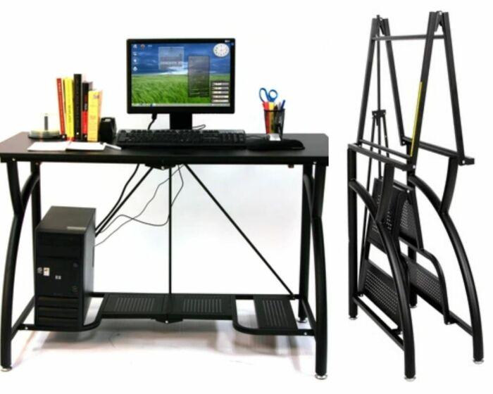 Компьютерный стол Origami устойчив и легко складывается.