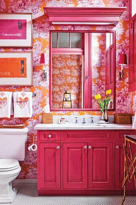 Даже если это любимый цвет, то перебарщивать не стоит. /Фото: i.pinimg.com