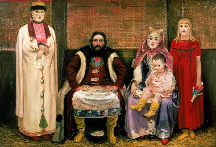 А. Рябушкин. Семья купца в XVII веке, 1896 г. /Фото: cp12.nevsepic.com.ua