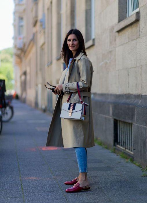 Еще один удачный вариант с дизайнерской сумочкой Gucci. /Фото: i.pinimg.com