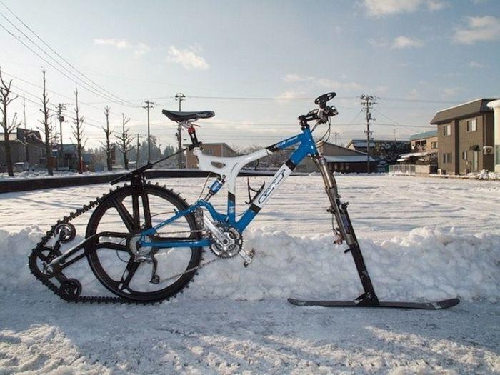 Удивительное изобретение, которое расширяет возможности езды на велосипеде. /Фото: i.pinimg.com