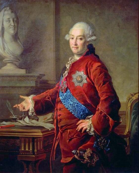 В 18 веке в России красились все, причем мужчины не были исключением. Князь Голицын. /Фото: b1.culture.ru