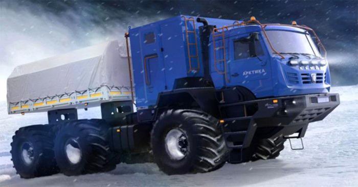 «КАМАЗ Арктика» уверенно идет по снежным просторам. /Фото: feelfeed.pw