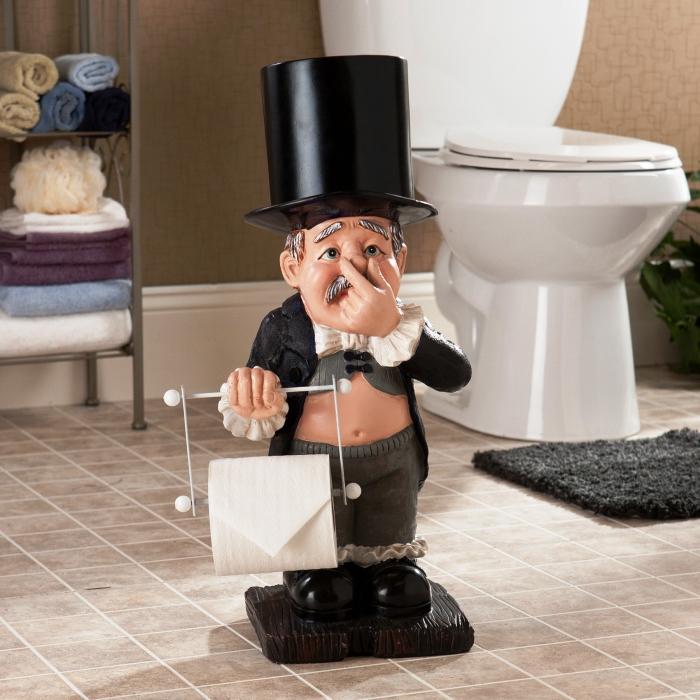 Вот такой забавный держатель туалетной бумаги можно разместить у себя в квартире. /Фото: 12millionov.com