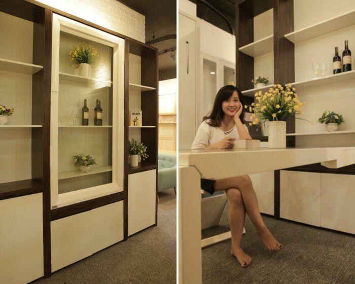 Стол-витрина – эффектно и практично.