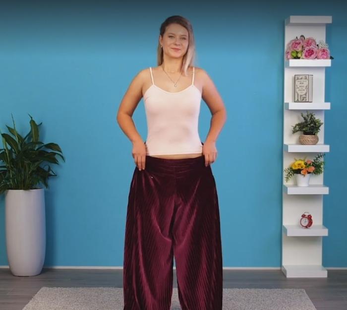 Широкие брюки можно с легкостью превратить в изящное вечернее платье.