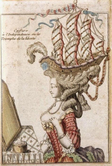 В эпоху рококо женские прически стремились ввысь и вширь. /Фото: stat.ameba.jp