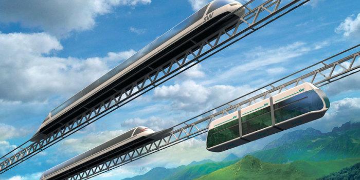 Особая аэродинамической конструкции транспортная система развивает впечатляющую скорость. /Фото: sky-way.org