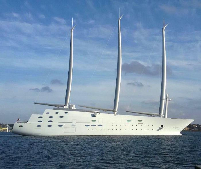 Парусная яхта Sailing Yacht A оригинальна во всем: от внешнего вида до технологий. /Фото: 3kbo302xo3lg2i1rj8450xje-wpengine.netdna-ssl.com
