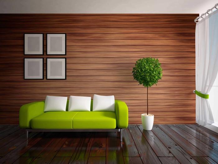 С уксусом деревянные панели будут сиять как новые. /Фото: otdelkasten.com