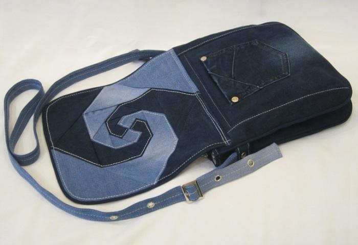 Если постараться, из старых джинсов можно сшить очень стильную сумку. /Фото: 4.bp.blogspot.com