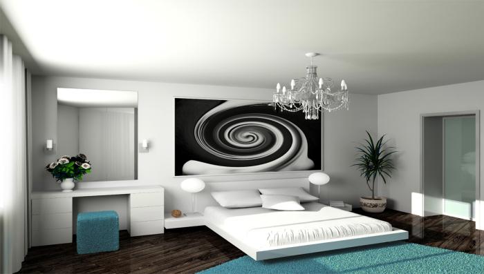 Стиль минимализма в спальне. /Фото: luxury.com.tr