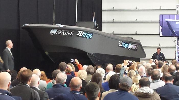 Лодка 3Dirigo была напечатана при помощи принтера BAAM всего за 72 часа. /Фото: mediad.publicbroadcasting.net