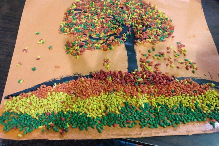 Рисовать можно не только красками. /Фото: mumsandstories.com