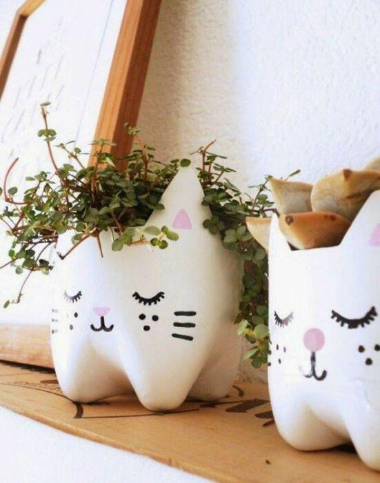 С таким оформлением комнатные растения приобретут совершенно другой вид. /Фото: i.pinimg.com