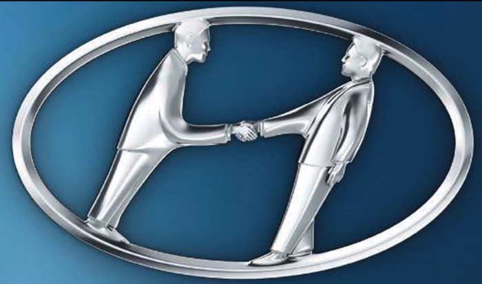 Так выглядел бы логотип Hyundai, если сделать зашифрованную идею зримой.
