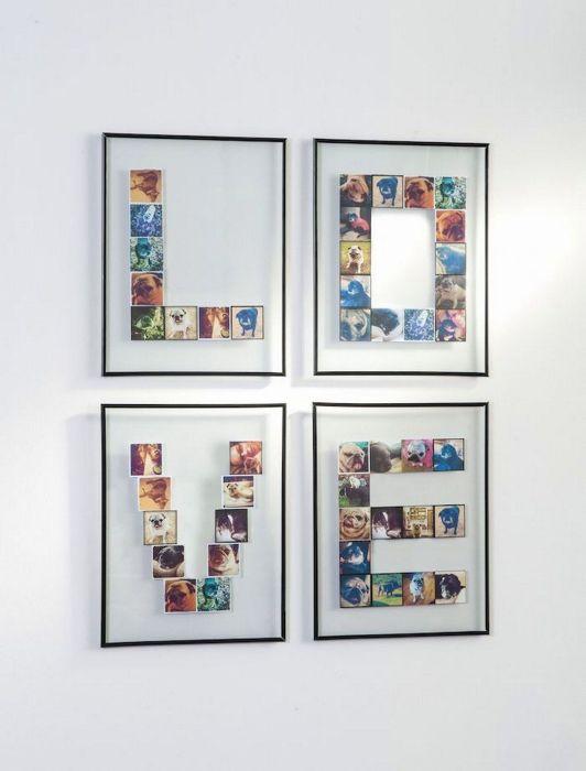 Из фотографий можно делать не только коллажи, но и настоящие картины. /Фото: i.pinimg.com