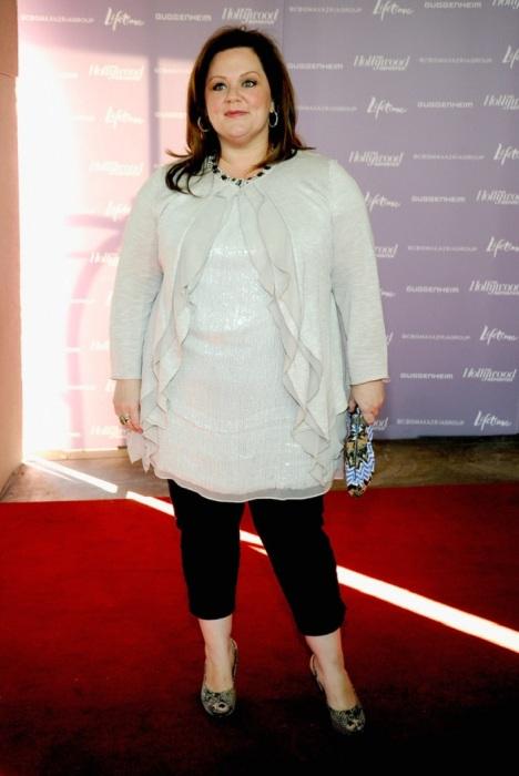 Для пышнотелой актрисы Мелиссы Маккарти укороченные брюки явно не лучший выбор. /Фото: pictures.stylebistro.com