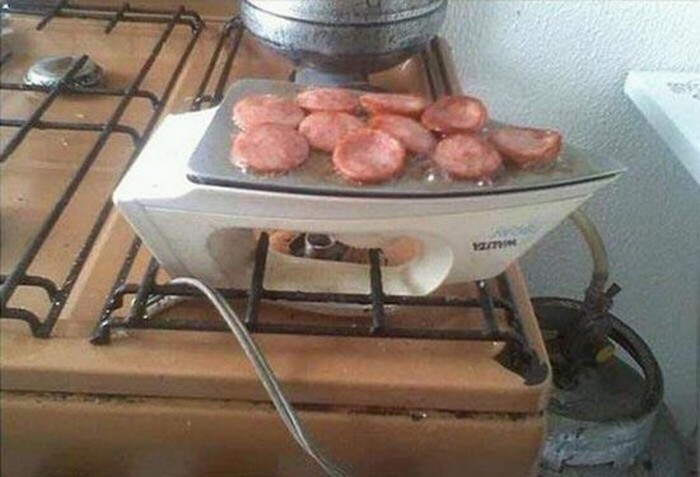 Если нет газа, всегда можно найти выход с помощью утюга. /Фото: 2.bp.blogspot.com