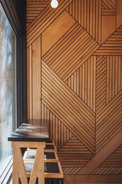 Геометрический узор, который задает тон всей комнате. /Фото: i.pinimg.com
