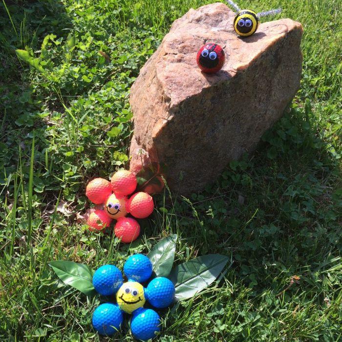 Простые мячики для гольфа способны преобразить дачный участок в мгновение ока. /Фото: cdn.instructables.com