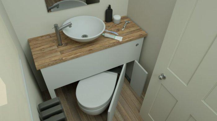 Концепты санузлов Hidealoo идеально подходят для малогабаритных квартир. /Фото: hidealoo.com