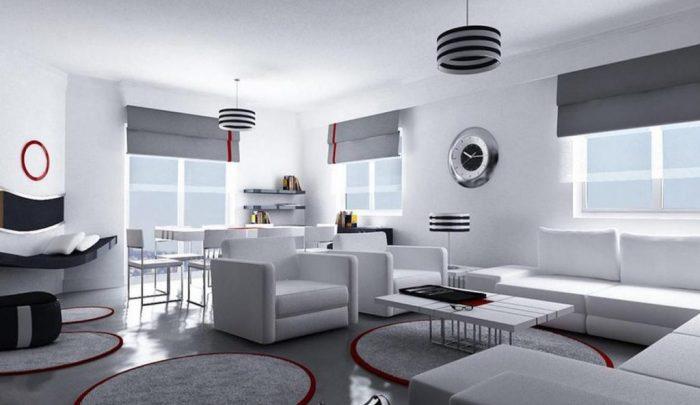 Безупречное сочетание серого и белого в стиле хай-тек. /Фото: belady.online