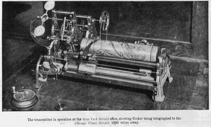 Факсимильный аппарат, 1843 год. /Фото: slide-share.ru