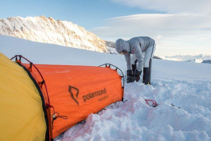 С модульной системой Polarmond можно комфортно ночевать и среди снегов. /Фото: polarmond.ch