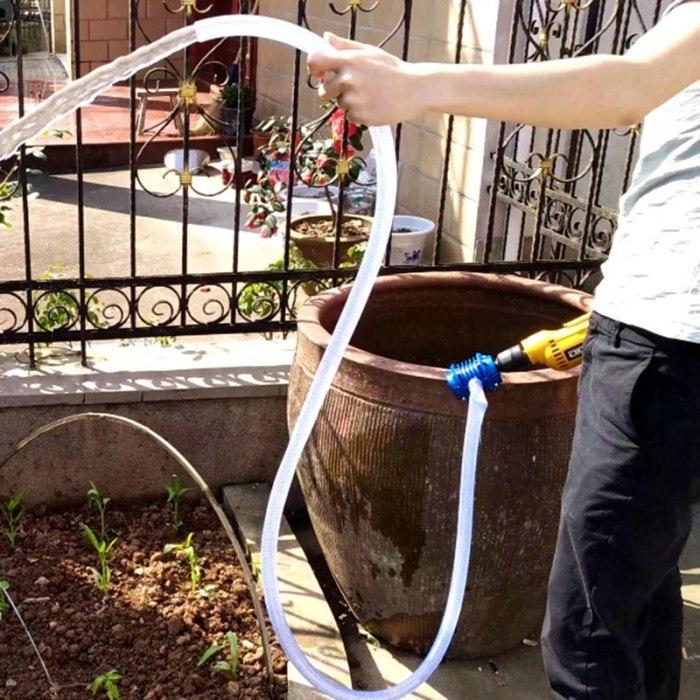 Насадка-помпа облегчит выполнение работ без покупки насоса. /Фото: ae01.alicdn.com