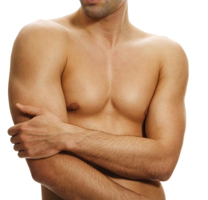 Мужские соски могут исчезнуть. /Фото: liposuction.com