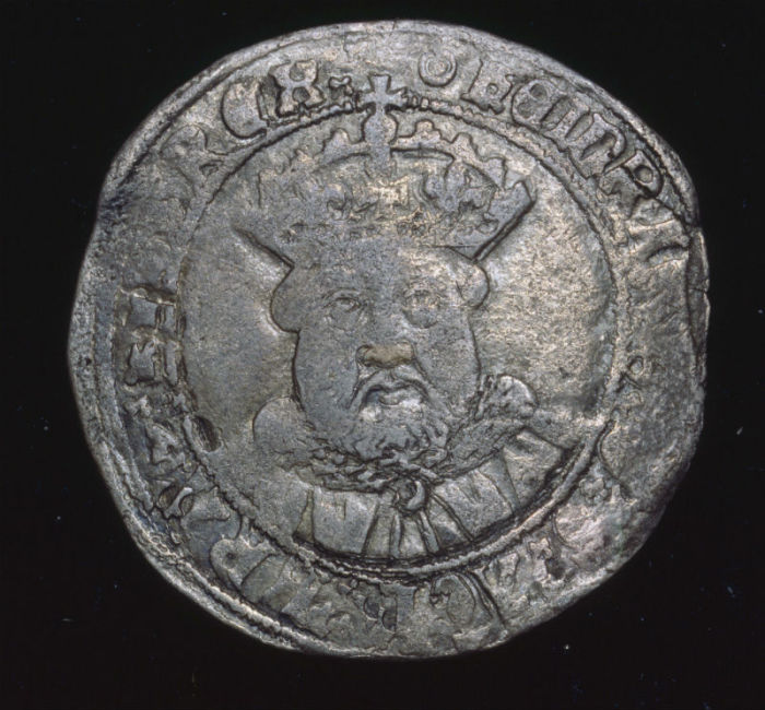 Шиллинг Генриха VIII. /Фото: blog.royalmint.com