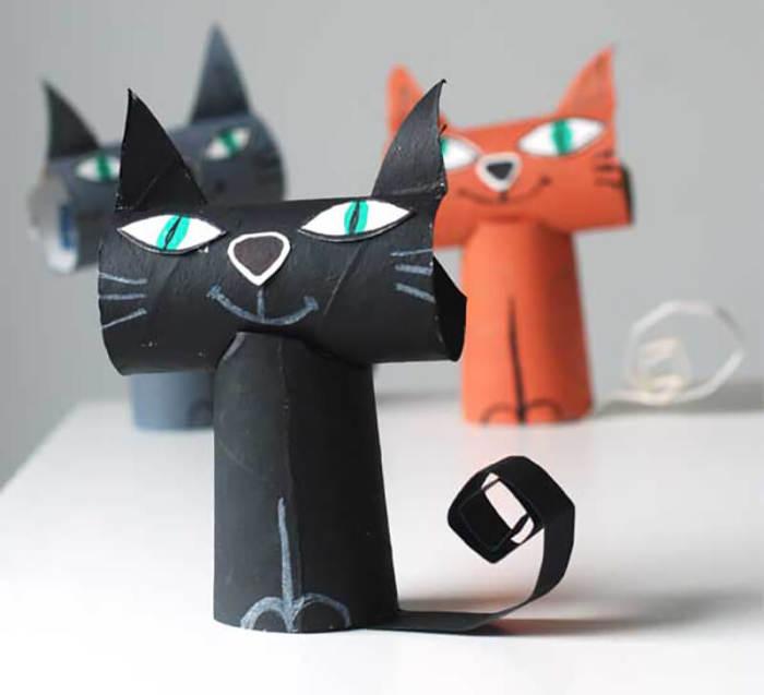Милые котики для творчества с малышами. /Фото: vtemu.by