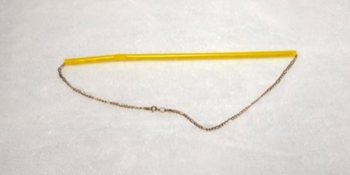 Коктейльные трубочки – практичное решение для хранения цепочек.