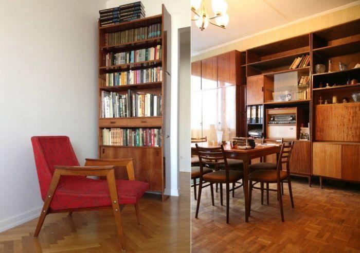 Квартира интеллигента с легкостью узнавалась по большому количеству книг. /Фото: i.pinimg.com