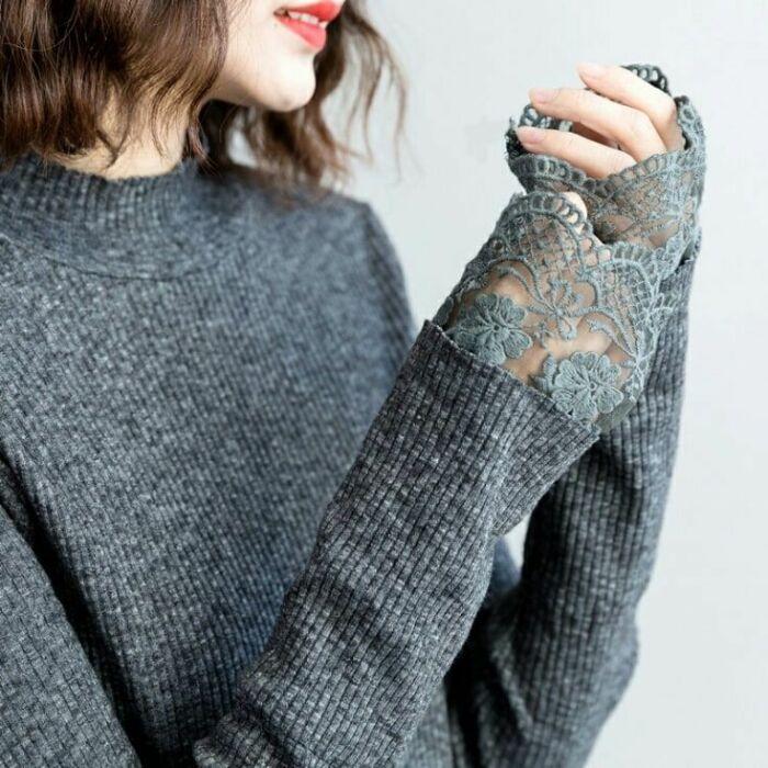 Отличный лайфхак для вещей, рукава которых стали слишком короткими. /Фото: i.pinimg.com
