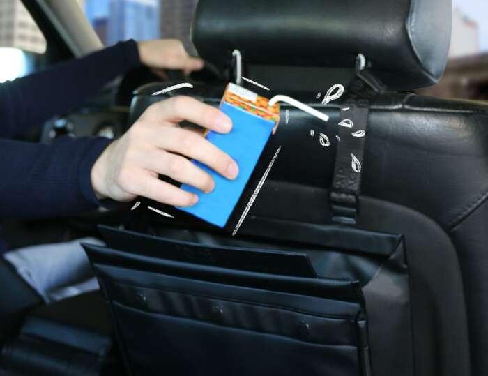Snapbag – интересное решение мусорного бокса для автомобиля. /Фото: thegadgetflow.com