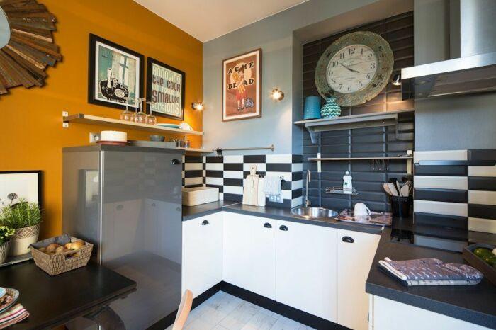 Яркое и необычное решение для украшения кухни. /Фото: i.pinimg.com
