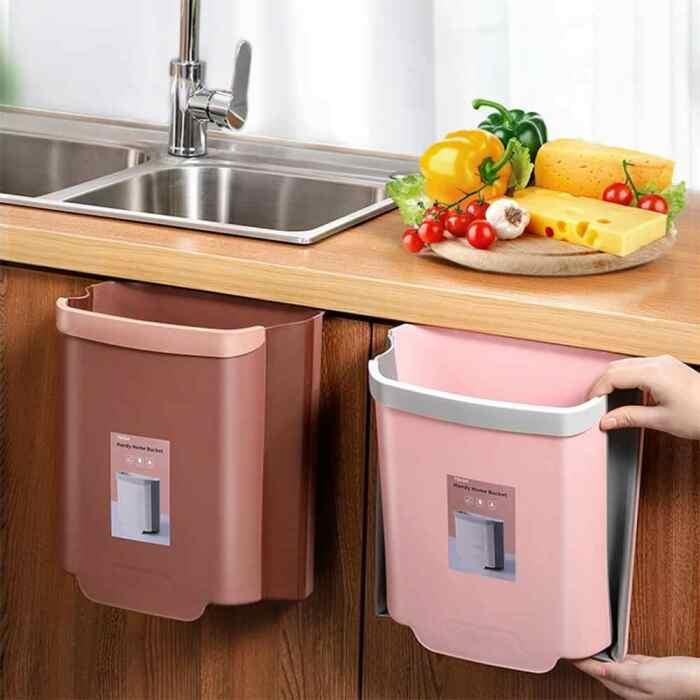 С таким мусорным контейнером на дверце шкафа, готовить станет намного быстрее и приятнее. /Фото: ae01.alicdn.com