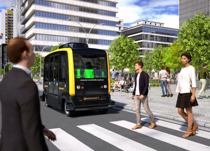 Шаттл CUbE «общается» с пешеходами посредством информационного дисплея. /Фото: newtechnology.hu